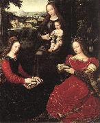 BENSON, Ambrosius Virgin and Child with Saints oil