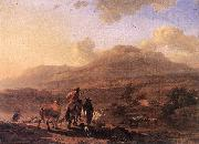BERCHEM, Nicolaes Italian Landscape at Sunset oil