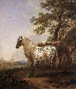 BERCHEM, Nicolaes Landscape with Two Horses oil painting picture wholesale