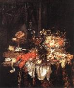 BEYEREN, Abraham van Banquet Still-Life with a Mouse fdg oil painting picture wholesale