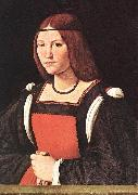 BOLTRAFFIO, Giovanni Antonio Portrait of a Young Woman 55 oil