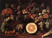 BONZI, Pietro Paolo Fruit, Vegetables and a Butterfly oil