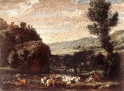 BONZI, Pietro Paolo Landscape with Shepherds and Sheep  gftry oil