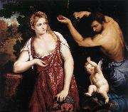 BORDONE, Paris Venus and Mars with Cupid oil