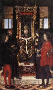 BORGOGNONE, Ambrogio St Ambrose with Saints fdghf oil painting artist