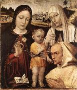 BORGOGNONE, Ambrogio Madonna and Child, St Catherine and the Blessed Stefano Maconi fgtr oil painting artist