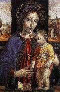BORGOGNONE, Ambrogio Virgin and Child fdg oil painting artist