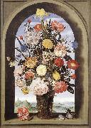 BOSSCHAERT, Ambrosius the Elder Bouquet in an Arched Window  yuyt oil painting picture wholesale