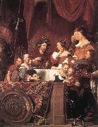 BRAY, Jan de The de Bray Family (The Banquet of Antony and Cleopatra) dg oil