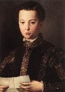BRONZINO, Agnolo Portrait of Francesco I de Medici France oil painting reproduction