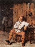 BROUWER, Adriaen A Boor Asleep oil
