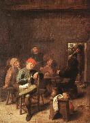 BROUWER, Adriaen Peasants Smoking and Drinking f oil painting picture wholesale