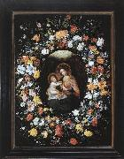 BRUEGHEL, Ambrosius Holy Virgin and Child oil painting artist