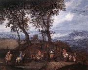 BRUEGHEL, Jan the Elder Travellers on the Way oil painting picture wholesale