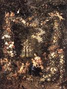 BRUEGHEL, Jan the Elder The Holy Family fg oil painting artist