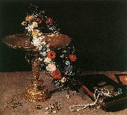 BRUEGHEL, Jan the Elder Still-Life with Garland of Flowers and Golden Tazza fdg oil painting picture wholesale