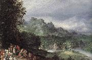BRUEGHEL, Jan the Elder A Flemsh Fair (detail) ffg oil painting artist