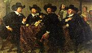 Bartholomeus van der Helst The Regents of the Kloveniersdoelen Eating a Meal of Oysters oil painting picture wholesale