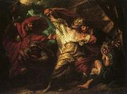 Benjamin West King Lear oil