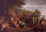 Benjamin West William Penn s Treaty with the Indians oil