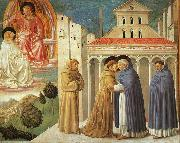 Benozzo Gozzoli The Meeting of Saint Francis and Saint Domenic oil painting artist