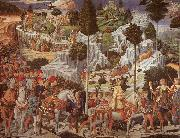 Benozzo Gozzoli Procession of the Magus Gaspar oil painting artist