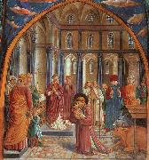 Benozzo Gozzoli Establishment of the Manger at Greccio oil painting artist