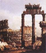 Bernardo Bellotto Capriccio with the Colosseum oil