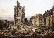 Bernardo Bellotto The Ruins of the Old Kreuzkirche in Dresden oil painting picture wholesale