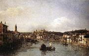 Bernardo Bellotto View of Verona and the River Adige from the Ponte Nuovo oil painting picture wholesale