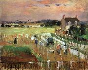 Berthe Morisot Hanging Out the Laundry to Dry oil
