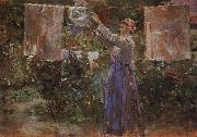 Berthe Morisot Peasant Hanging out the Washing oil painting picture wholesale