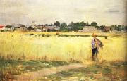 Berthe Morisot In the Wheatfields at Gennevilliers oil painting picture wholesale