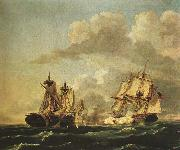 Birch, Thomas Naval Battle Between the United States and the Macedonian on Oct. 30, 1812, oil