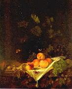 CALRAET, Abraham van Still-life with Peaches and Grapes oil