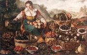 CAMPI, Vincenzo The Fruit Seller oil painting artist