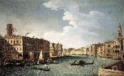 CANAL, Bernardo The Grand Canal with the Fabbriche Nuove at Rialto oil