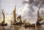 CAPELLE, Jan van de The State Barge Saluted by the Home Fleet df oil