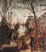CARPACCIO, Vittore The Arrival of the Pilgrims in Cologne d oil painting