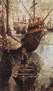 CARPACCIO, Vittore The Arrival of the Pilgrims in Cologne (detail) oil painting