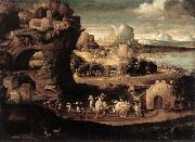 CARPI, Girolamo da Landscape with Magicians fs oil painting