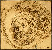 CARRACCI, Agostino Head of a Faun in a Concave (roundel) dsf oil painting picture wholesale