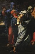 CARRACCI, Annibale Holy Women at the Tomb of Christ (detail) fg oil painting picture wholesale