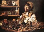CECCO DEL CARAVAGGIO The Flute Player fg oil painting artist