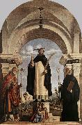 CIMA da Conegliano St Peter Martyr with St Nicholas of Bari, St Benedict and an Angel Musician dfg oil painting picture wholesale