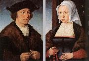 CLEVE, Joos van Portrait of a Man and Woman dfg oil painting picture wholesale