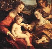 CORNELISZ VAN OOSTSANEN, Jacob The Mystic Marriage of St Catherine dfg oil painting picture wholesale