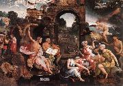 CORNELISZ VAN OOSTSANEN, Jacob Saul and the Witch of Endor dfg oil painting picture wholesale