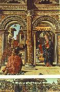 COSSA, Francesco del Annunciation and Nativity (Altarpiece of Observation) df oil painting picture wholesale