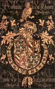 COUSTENS, Pieter Coat-of-Arms of Anthony of Burgundy df oil painting artist